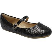 Sapato Boneca Com Brilho - Preta- Luluzinhaluluzinha