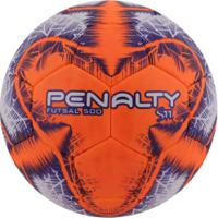Bola De Futsal Penalty S11 500 R4 Ix - Branco/Laranja