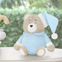 Urso De Pelúcia Soneca Azul Plush 12 Cm Grão De Gente Rosa