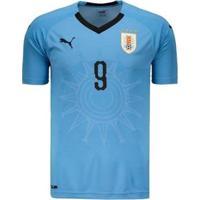 Camisa Puma Uruguai Home 2018 N°9 L. Suárez Masculina - Masculino
