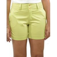 Shorts Tecido Moche - Feminino-Verde Limão