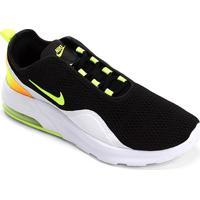 Tênis Nike Air Max Motion Masculino - Masculino-Preto+Verde Limão
