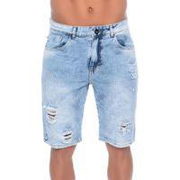 Bermuda Jeans Com Respingos Emporio Alex