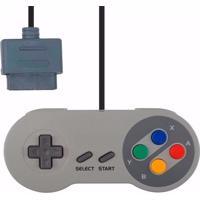 Controle Nintendo Superpad Snes Similar Cinza