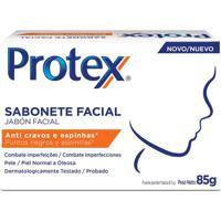 Sabonete Facial Anti Cravos E Espinhas Protex 85G