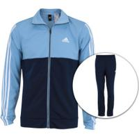 Agasalho Adidas Back2Bas 3S - Masculino - Azul Cla/Azul Esc