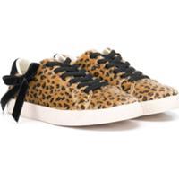 Douuod Kids Furry Leopard Low-Top Sneaker - Marrom