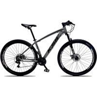 Bicicleta Xlt Aro 29 Freio A Disco Suspensão 21 Marchas Quadro 15 Alumínio Cinza Preto - Ksw