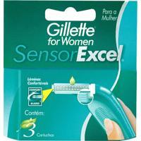 Carga Gillette Sensor Com 3 Unidades