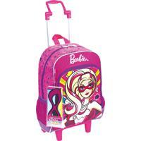 676a01ae2 Mochila Escolar De Rodinha Barbie Super Princesa