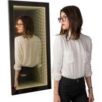 Espelho Decorativo Infinito 50X100 Cm Preto