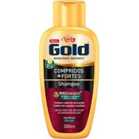 Shampoo Niely Gold Compridos + Fortes 300Ml - Unissex-Incolor