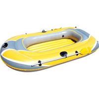 Bote Inflável Bestway Hidro Force Raft Com Remo E Bomba Manual Para 2 Pessoas - Amarelo/Cinza
