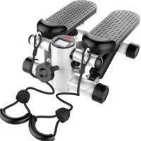 Stepper Simulador De Caminhada 3 Em 1 Yangfit Ajustável Com Monitor Cinza