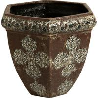 Cachepot De Cerâmica Marrom Phangan
