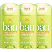 Kit Ban Sweet Simplicity 3 Desodorantes Sólidos - Unissex-Incolor