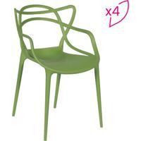 Conjunto De Cadeiras De Jantar Solna- Verde- 4Pçs