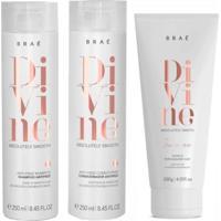 Kit Shampoo Condicionador E Leave-In Braé Divine