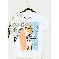 Blusas Lez A Lez California Girl Feminina - Feminino-Laranja+Branco