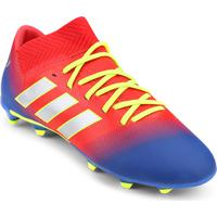 Netshoes  Chuteira Campo Infantil Adidas Nemeziz Messi 18 3 Fg - Unissex 8a72d5e8996cd