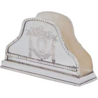Porta-Guardanapos Decorativo Banho De Prata Arni