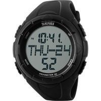 Relógio Pedômetro Skmei Digital 1122 - Preto