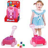 Carrinho De Empurrar Mipuxa Educativo Com Puxador Brinquedo Cardoso Toys Menina