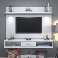 Painel Para Tv Aron 1.8 Branco Gloss Com Led