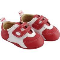 Tênis Infantil Couro Catz Calçados Bart - Unissex-Vermelho+Branco