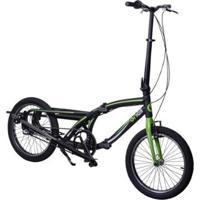 Bike Eliptica Onell Dobravel Aro 20 Aluminio Nexus 8 Marchas - Unissex