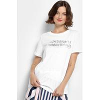 Camiseta Lança Perfume Women'S Rights Feminina - Feminino-Branco
