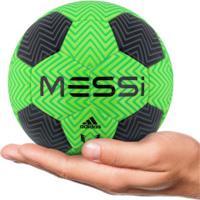 1cca2f396e Minibola De Futebol De Campo Adidas Messi Q3 - Verde Claro Preto