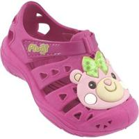 Babuche Plugt Bebê Ursinha Feminino - Feminino-Pink