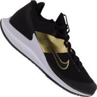 Tênis Nike Court Air Zoom Zero Hc - Masculino - Preto/Ouro