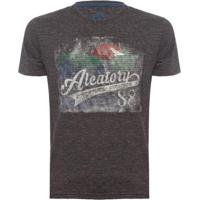 Camiseta Adventure Explorer Aleatory Masculina - Masculino-Chumbo