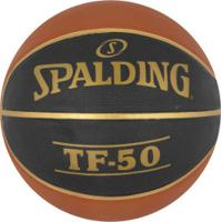 Bola De Basquete Spalding Tf-50 - Laranja/Preto
