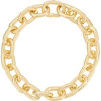 Jack Vartanian Colar 'Chain G' Prata Com Banho Ouro 18K - Dourado