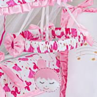 Móbile Menina Balé Musical Pink Gráo De Gente Rosa - Tricae