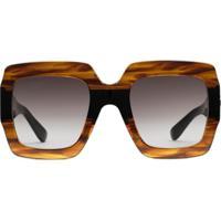 Gucci Eyewear Square-Frame Sunglasses - Marrom