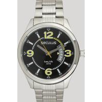 Relógio Analógico Seculus Masculino - 23647G0Svna1 Prateado - Único