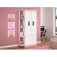 Guarda-Roupa Infantil 2 Portas Ternura Flex Rosa/Azul - Peternella