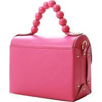 Bolsa Biro 2446 Maleta Sint Alça Det Bolinha 1078999 - Feminino-Pink