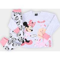Pijama Infantil Evanilda Disney Minnie - Feminino-Mescla
