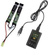 Kit Bateria Para Airsoft Lipo 7.4V 20C 1100Mah + Carregador L1P1 Bivolt Qgk - Unissex