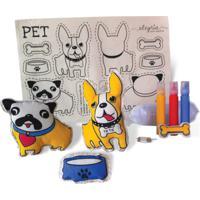 Boneca De Pano Pet Alegria Sem Bateria Colorido