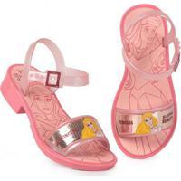 Sandália Salto Infantil Grendene Princesas Glitter