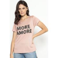 """Blusa """"More Amore""""- Rosa Claro- Cavallaricavalari"""