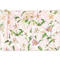 Dolce & Gabbana Clutch Com Estampa Floral - Rosa