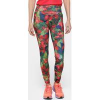 Calça Legging Adidas G2 Salinas Feminina - Feminino-Vermelho+Verde