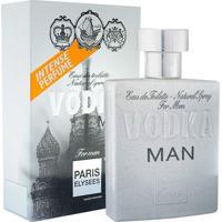 Vodka Man De Paris Elysees Eau De Toilette Masculino 100 Ml